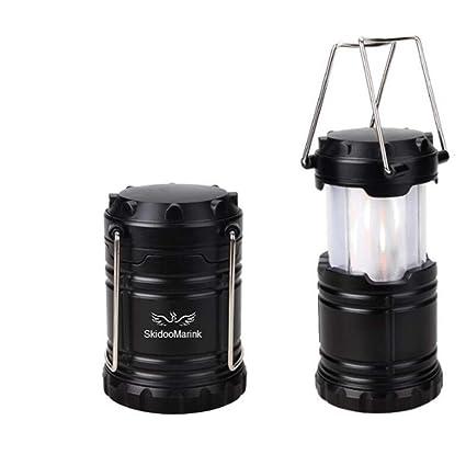 Amazon.com: SKM portátil Camping linterna funciona con pilas ...