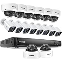 ANNKE Outdoor 1080p Video Security Surveillance System 16CH 6MP NVR and (16) 1920TVL Weatherproof HD Cameras, 100ft Night Vision, Motion Detection