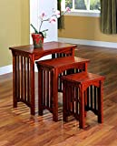 3-piece Nesting Table Set Warm Brown For Sale