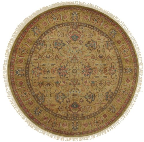 Surya Adana Wool - Surya Traditional Round Area Rug 8' in Gold Color From Adana Collection