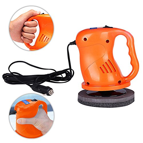 EIGIIS 12V 40W Car Polisher Machine Car Waxer Polisher Kit with 2 Car Buffing Pads Suit for Cars Railings Plastic Glass Floors Homes (Orange) by EIGIIS (Image #2)
