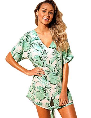 Coprire Stampato Spiaggia Costumi Vestito Bikini Maketina Bagno Palmetto Da Donne Sciolto ZaTqSB