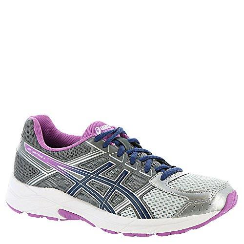 ASICS Women's Gel-Contend 4 Running Shoe, Silver/Campanula/Carbon, 7.5 M US