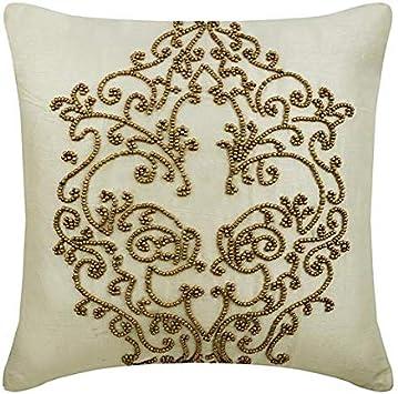 """Housse de coussin 18/"""" x18"""" Designer Tissu /& Beautiful Ivoire Motif Floral"""