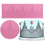 Silicone Lace, KOOTIPS Crown Lace Silicone Mold Wedding Cake Decor Tools Impression Gum Pastry Tool Kitchen Tool Paste Baking Mould Cookie Pastry