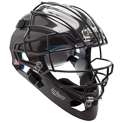 Schutt AiR MAXX Hockey-Style Catcher's Helmet with Facemask, Black, Extended OS Cage Face Mask