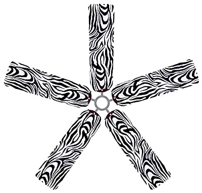 Fan Blade Designs 6536 Ceiling Fan Blade Covers, Zebra