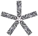 zebra ceiling fan blades - Fan Blade Designs Zebra Ceiling Fan Blade Covers