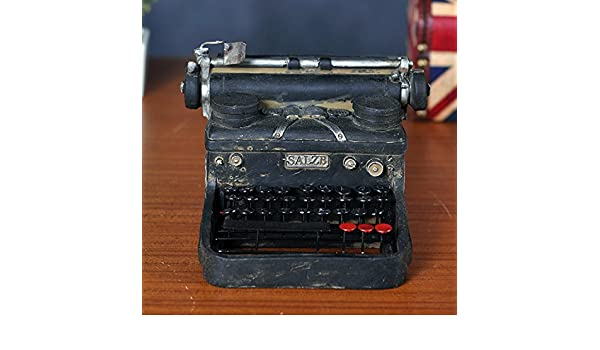 Adornos de Annata Vecchia máquina de escribir modelo decorativo y Mestieri Bar Tienda Vitrina: Amazon.es: Hogar