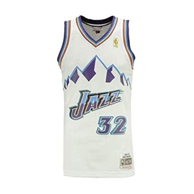 Camiseta NBA Utah Jazz Karl Malone 32 (Blanca), M