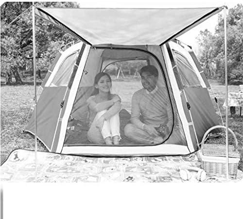 ZZWW Zelte Gartenzelt Outdoor Regenfest Campingzelt 3-4 Personen Schnellöffnung Vollautomatisch Ausflug Große Campingausrüstung