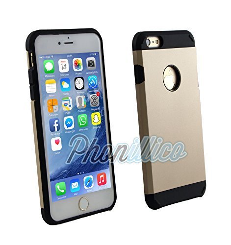 Phonillico® Coque Armor Or pour Apple iPhone 6 / 6S - Coque Housse Etui Case Protection Extreme Renforcée Armure Double Couche Anti Choc