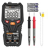 Tacklife DM06 Premium Smart Digital Multimeter Auto-Ranging TRMS 6000 Counts AC/DC Voltage /Current,Resistance,Frequency,Temperature,Transistor,Continuity,Capacitance Tester