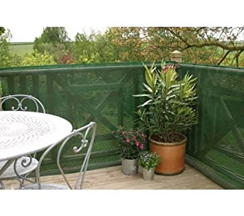 80% Balcony And Garden Privacy Screen 1x3 M Green