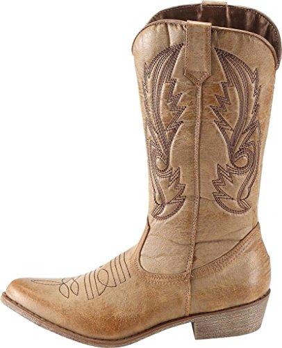 Abbronzatura Stivali Stivali Western da SimpleC Tan Donna Cowboy OgRqUx