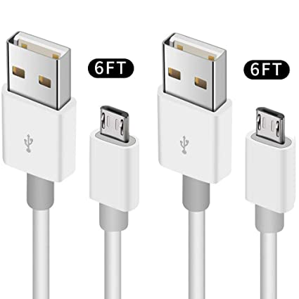 Amazon.com: Cable Micro USB, 2 Pack Cable de teléfono ...