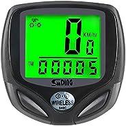 Bike Computer, Speedometer Wireless Waterproof Bicycle Odometer Cycle Computer Biking Cycling Accessories, wit