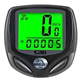 Bike Computer, Speedometer Wireless Waterproof Bicycle Odometer Cycle Computer Biking Cycling Accessories, with Automatic Wake-up Multi-Function Large LCD Back-Light Display by Arespark