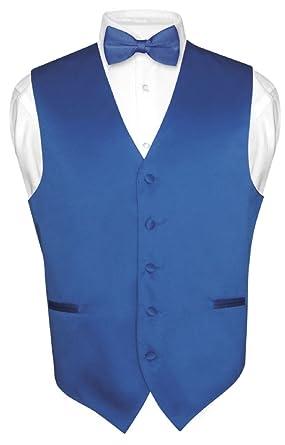 Men\'s Dress Vest & BowTie Solid ROYAL BLUE Color Bow Tie Set for ...