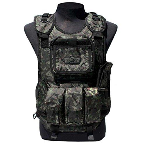 (GxG Deluxe Tactical Vest - 4 + 2 + 1 - Digi Green - OSFM )