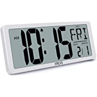 XREXS Large Digital Wall Clock, Electronic Alarm Clocks for Bedroom Home Decor, Count Up & Down Timer, 14.17 Inch Large…