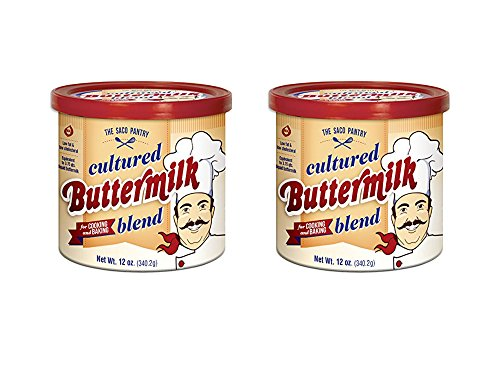 Set of 2 Saco Cultured Buttermilk for Cooking and Baking, Powdered, 12 oz bundled by Maven Gifts by Haddon House