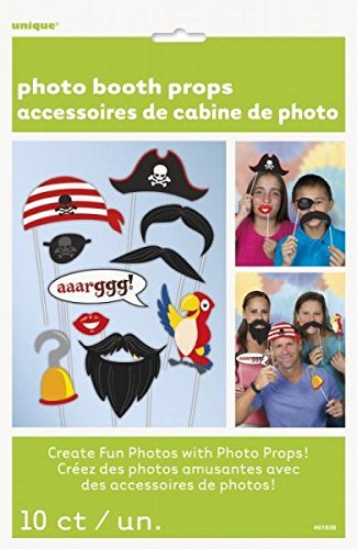 [Photo Booth Props Pirate Kit Favours Partyware for Birthday Party by Partypackage Ltd] (Pirate Partyware)