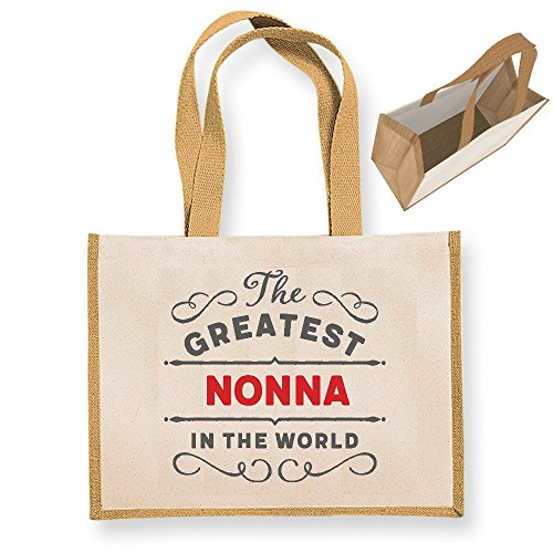 Nonna Gift, Nonna Birthday Bag, Personalised Nonna Gift, Nonna Present, Nonna Bag, Great Nonna Gifts, Nonna Funny Gifts, Nonna Gifts From Daughter, Nonna Keepsake, Tote, Shopping Bag (Green) Natural
