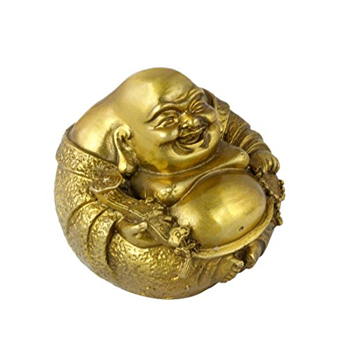 Handmade Fengshui Brass Maitreya Buddha Statue Decoration for Heath/Luck ()