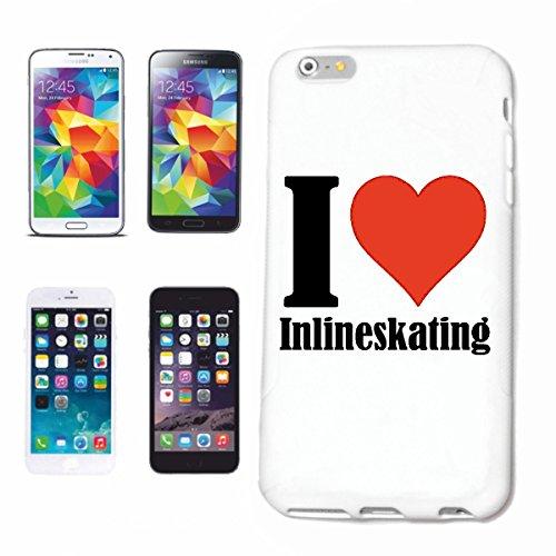 """Handyhülle iPhone 4 / 4S """"I Love Inlineskating"""" Hardcase Schutzhülle Handycover Smart Cover für Apple iPhone … in Weiß … Schlank und schön, das ist unser HardCase. Das Case wird mit einem Klick auf de"""