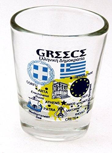 Albania Landmarks and Icons Collage Shot Glass