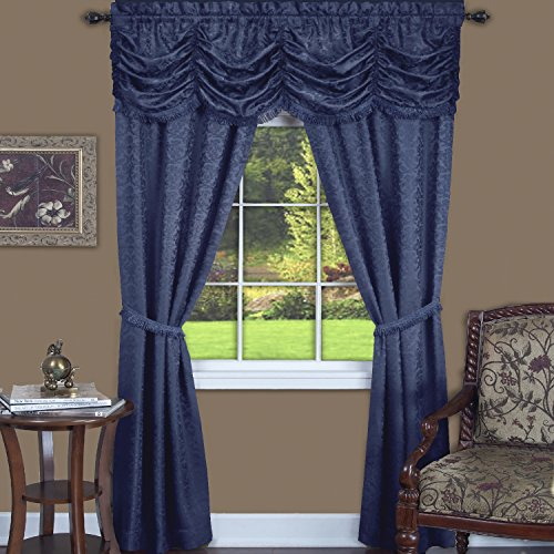 Achim Home Furnishings Panache Window in A Bag 5Piece Curtain Set, 55