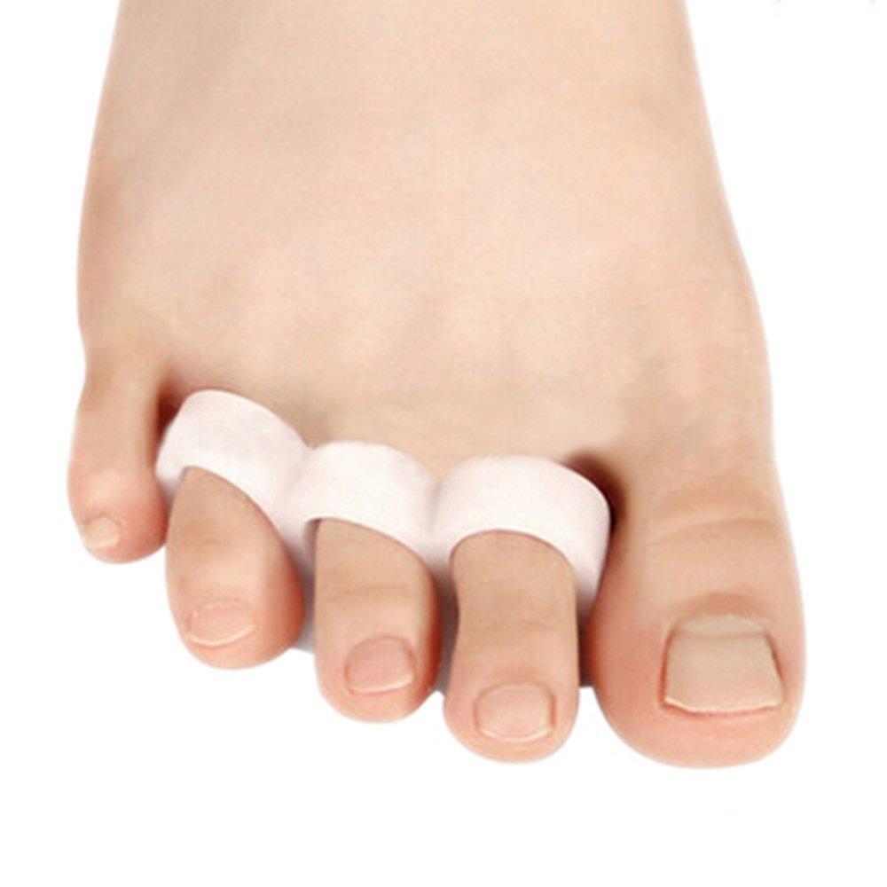 2pcs Gel séparateurs d'orteils en alignement Oignon Soulagement de la douleur Pieds Care DAEDALUS