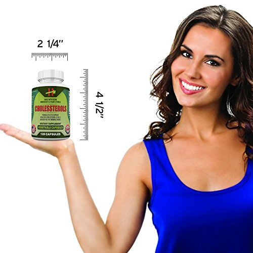 Bergamont Strengthening Conditioner - Lower Cholesterol Naturally with 400 mg Plant Sterols, 50mg Cayenne and Garlic Plus More - 60 Day Supply of 120 Capsules Lowering Your LDL Has Never Been Easier - Supplement Your Diet today