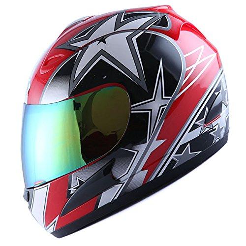 WOW Motorcycle Full Face Helmet Street Bike Racing Star - Bikes Street Stars Helmets