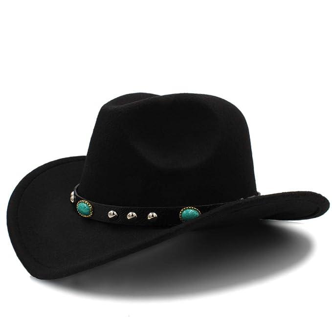 Ruanyi - Sombrero de Cowboy - para Mujer Negro 57 58 cm  Amazon.es  Ropa y  accesorios 806dcd45405