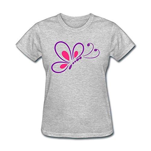 JustLikeSun Women's Butterfly Line Art T ()