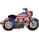 "45"" Captain America Motorcycle Balloon Fourth of July Party Favor Anti-Gravity Flying Floating Hovering String-less Toy."