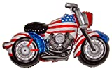 CAPTAIN AMERICA MOTORCYCLE 45'' ANTI-GRAVITY FLOATING TOY - Amazing STRING-LESS HOVERING ZERO-G Balloon, Flying Chopper Motor Bike Partiotic Fourth of July Holiday Birthday Party Favor