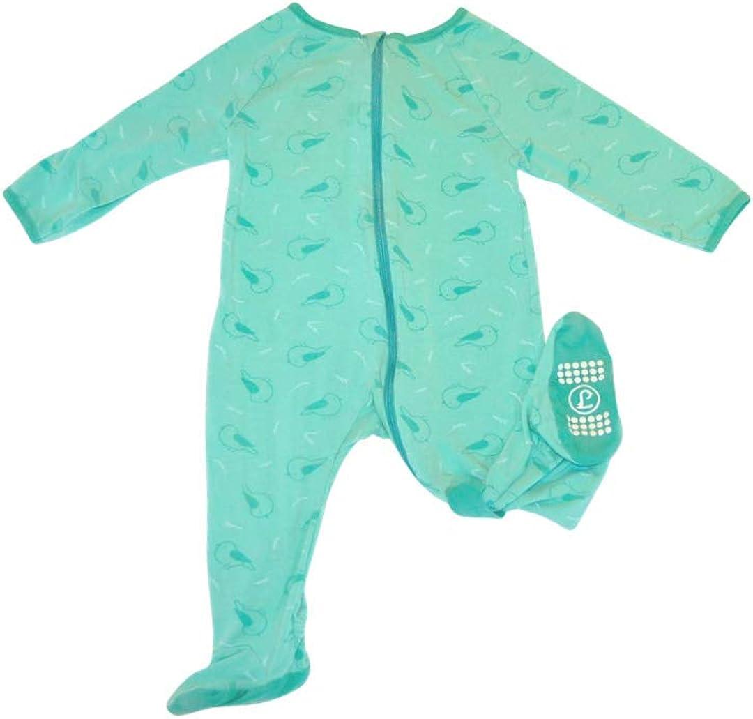 Lark Adventurewear: Premium Bamboo Zip Sleeper , Baby, Boy, Girl 3M-2T No Slip Footie Pajamas