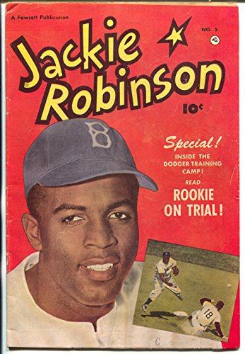 - Jackie Robinson #5 1951-Fawcett-Brooklyn Dodgers-photo covers-VG