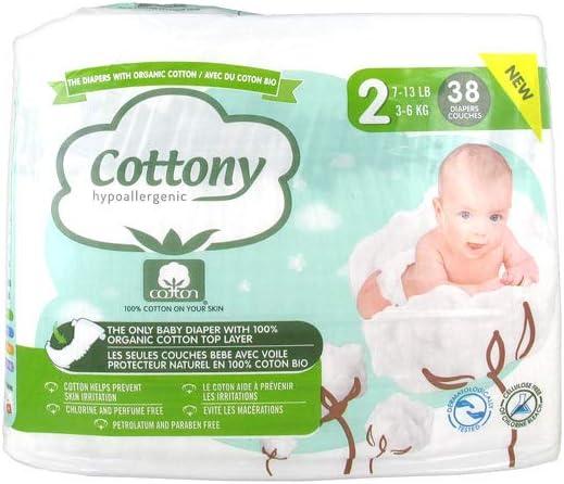 38 Windeln Gr/ö/ße 2 3-6 kg Cottony Windeln mit Bio-Baumwolle