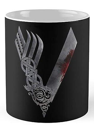 145f8468 Amazon.com: Vikings Hd Logo 11 Oz Coffee Mug: Kitchen & Dining