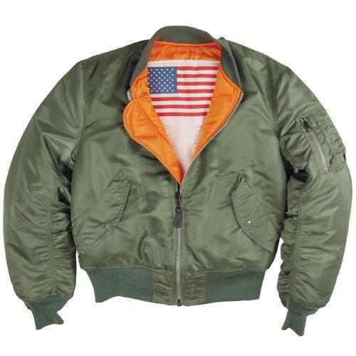 Alpha Industries Men's MA-1 Blood Chit Flight Jacket