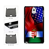 BleuReign(TM) Hungary and USA Mixed Flag Plastic Phone Case Back Cover Samsung Galaxy Note III 3 N9002