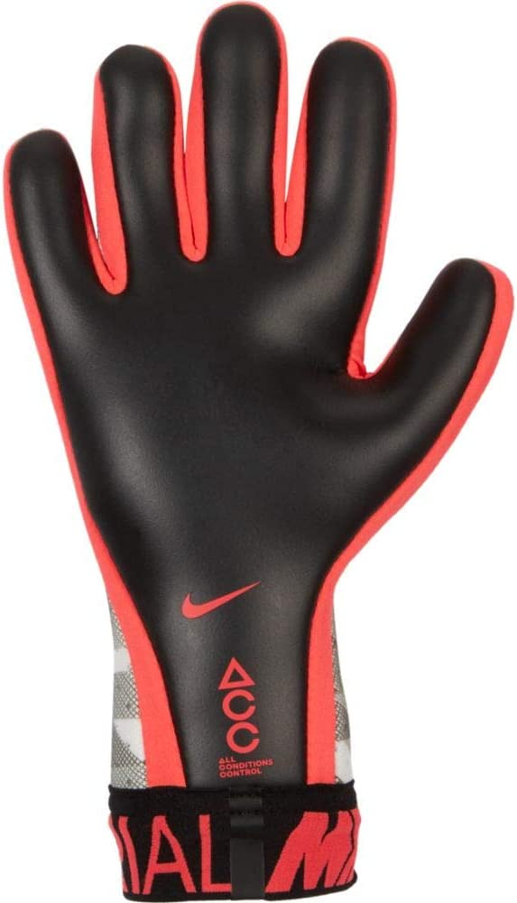 También excepción paz  Nike Goalkeeper Mercurial Touch Elite Gloves White-Black-Crimson 7 Sports &  Fitness Player Equipment