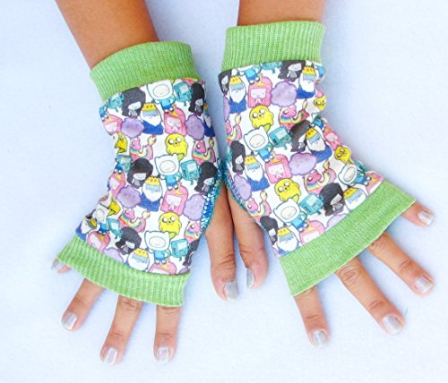 Kids Adventure Time anime arm warmers gloves
