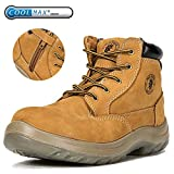 ROCKROOSTER Work Boots Men, Steel Toe Boot, Womens Safety Shoes, Caballo AC662 (US M12)