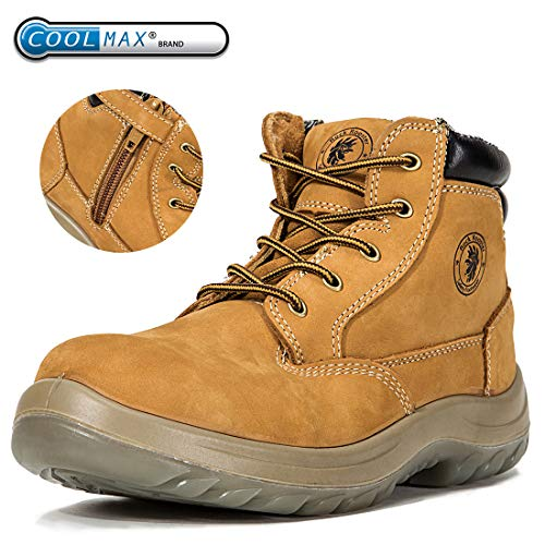 ROCKROOSTER Work Boots Men, Steel Toe Boot, Womens Safety Shoes, Caballo AC662 (US M12) ()