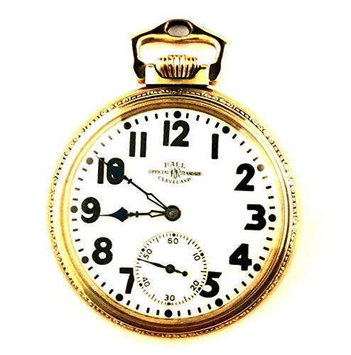 Vintage Pocket Watch for Men Ball Illinois, Ultra Rare Railroad Fancy ()